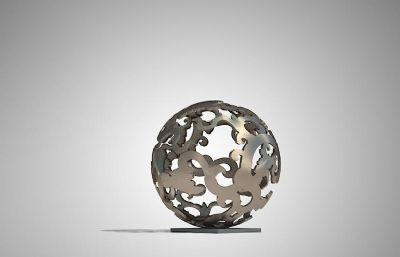 龙球雕塑设计