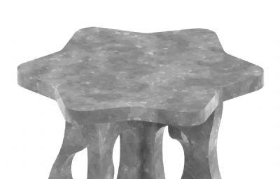 星星凳,星星造型石桌3DM模型