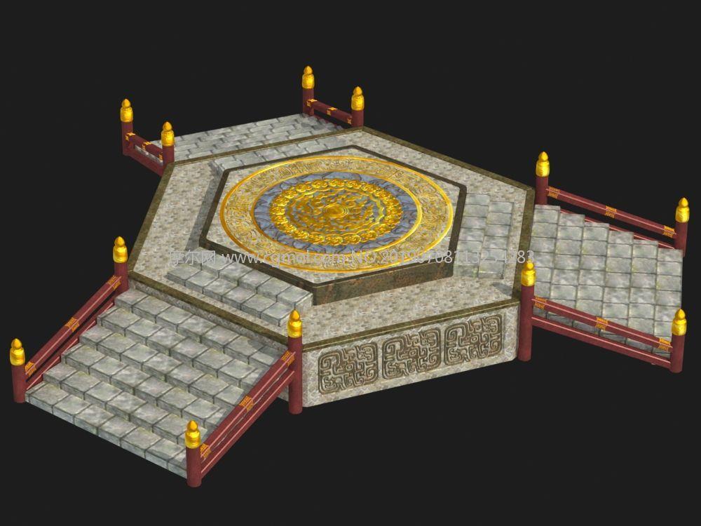 擂台,祭坛,游戏传送门max模型