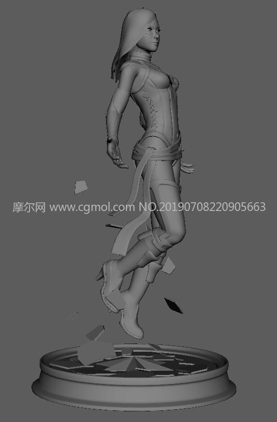 腾飞的惊奇队长maya模型