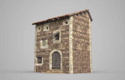 特色民族房子,碉堡房子3D模型