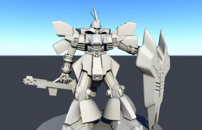 沙扎比机体手办造型Maya模型