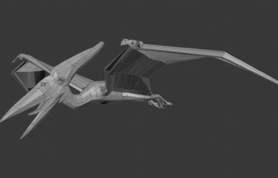 翼��3D模型,白模
