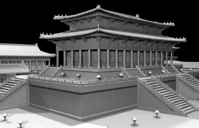 大殿,�m殿群maya模型