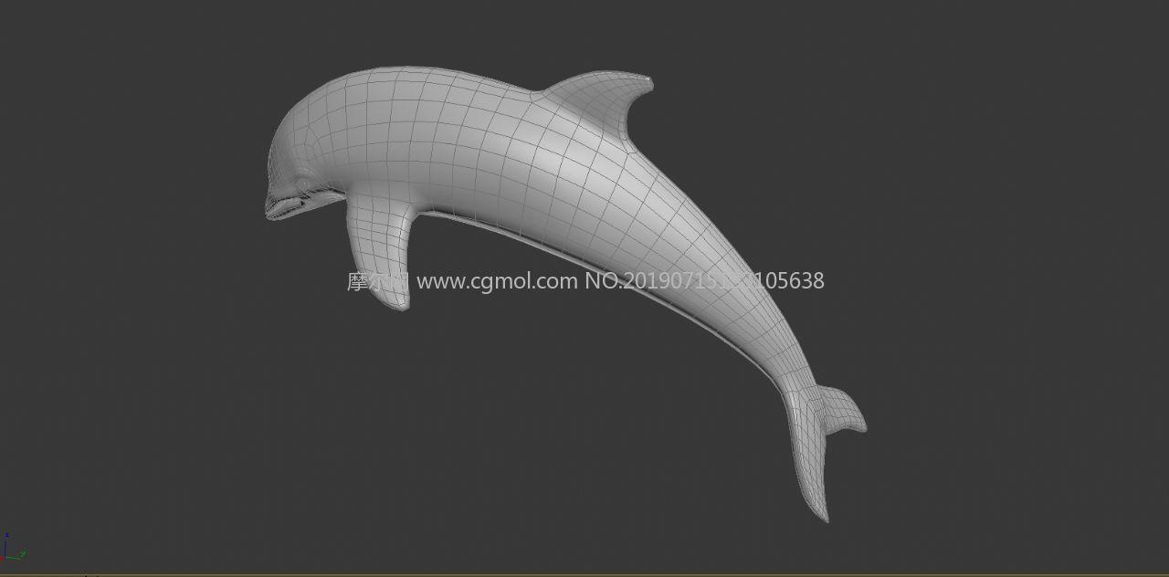 海豚max模型白模