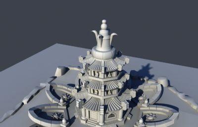 �花�_香�t,��塔maya模型