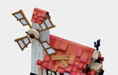 有�L�的卡通小房子max2016模型