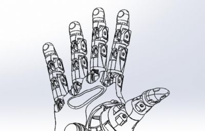�C械手掌,工�I�C器人手掌3D�D�,STEP格式模型