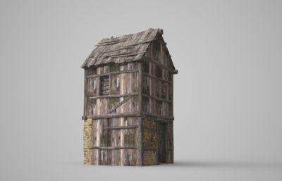 �f�r的木板房模型
