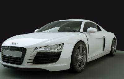 奥迪R8跑车,轿车,audi模型(内含C4D,FBX,maya文件)