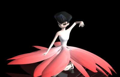 美�W花舞,女孩舞蹈家跳舞�赢�max模型