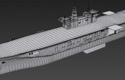 075B两栖攻击舰max白模