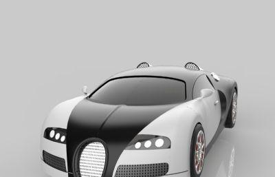 布加迪跑車sldprt模型