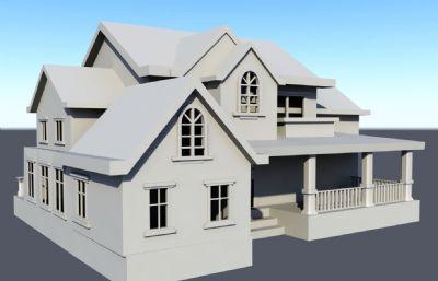 一个国外房屋Maya白模