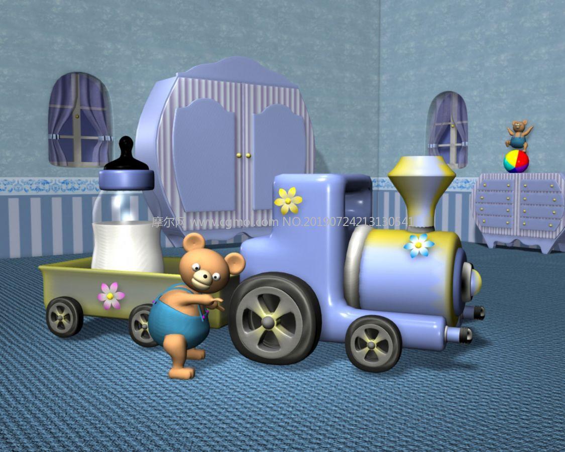 小熊+火�+奶瓶等玩具的�和�房�g