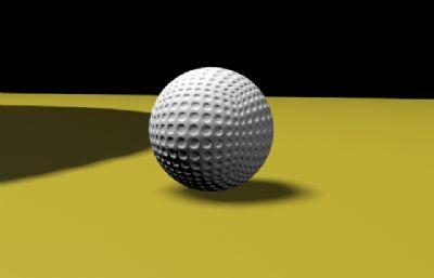 高尔夫球max素模