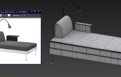 单人床max模型