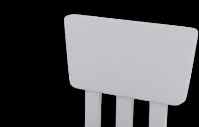 塑料板凳,�和�小椅子max模型