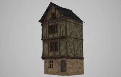 中世�o特色多�幽疚�3D模型
