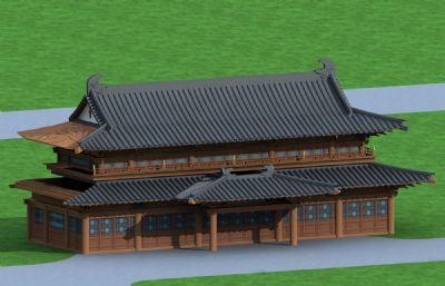 寺庙大殿主楼max模型
