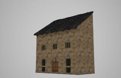 古代石�^�u房子3D模型