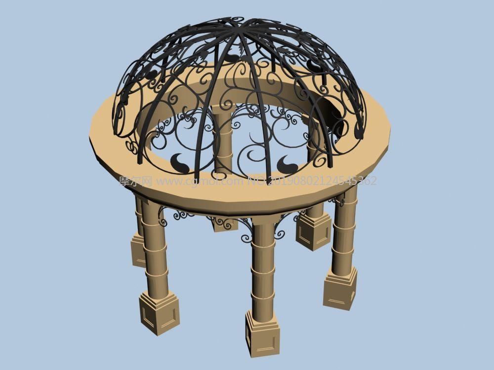 圆亭凉亭max模型