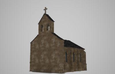 古�W教堂建筑3D模型