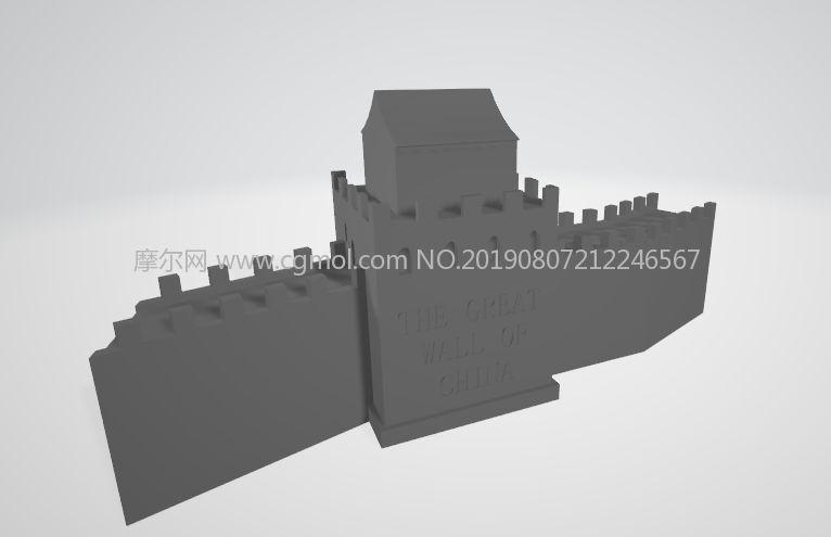 the Great Wall�L城STL模型