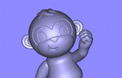 猴子公仔STL模型
