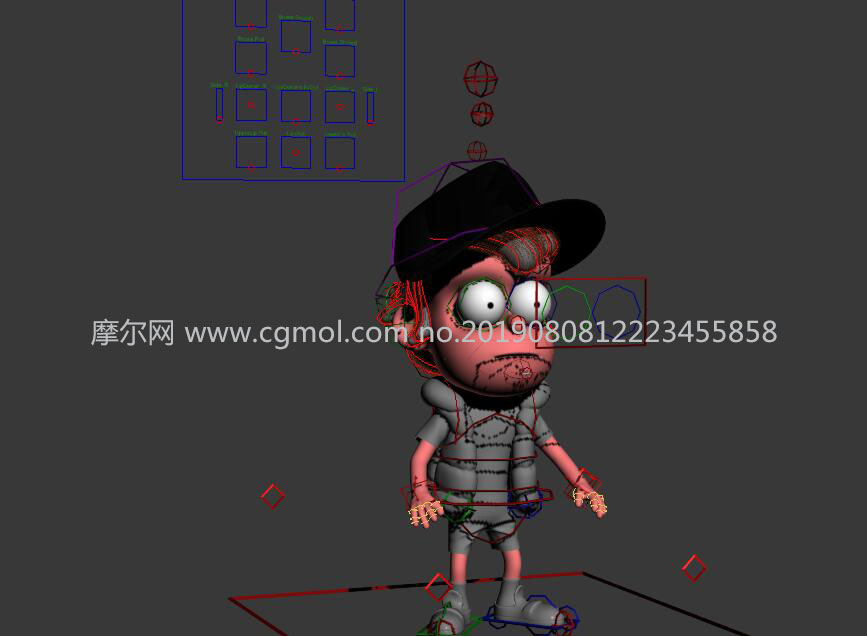 Dipper卡通棒球帽男孩MAX模型,�Ы�定