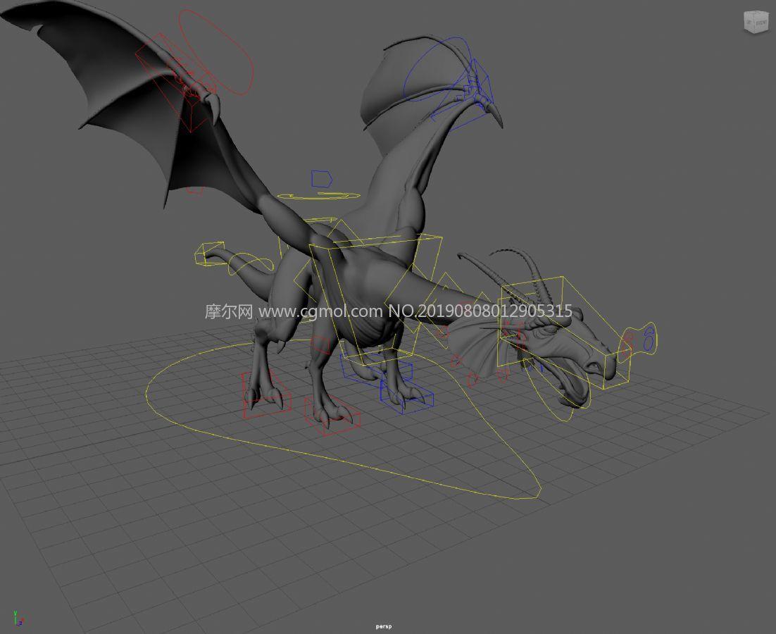 Dragon酷酷的�w��maya模型,�Ы�定