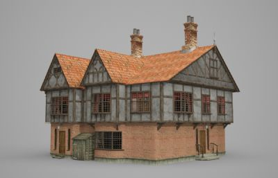 红瓦别墅建筑民居MAX模型