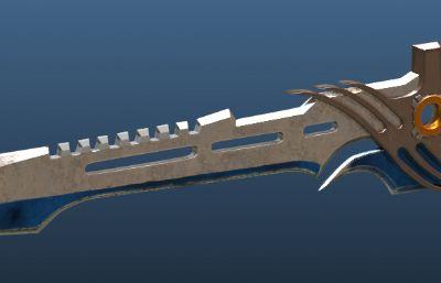 逆战黑天使之刃兵器max模型,带绑定
