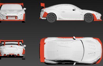 丰田86 MAX,STL模型,可打印