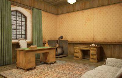 旧的会客室,接待室max模型