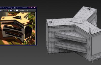 科技中心,三角大楼MAX模型