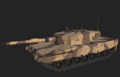 次世代手游豹2中的坦克模型