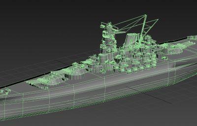 日本大和战舰次时代游戏模型
