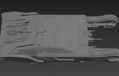 科幻飞行车MAX白模