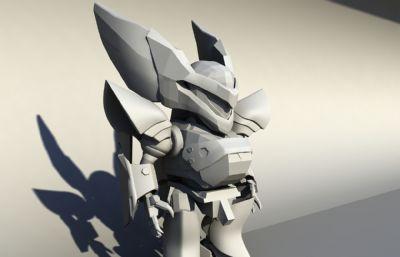 卡通�L格酷酷的�C器人,小�C甲��物maya模型