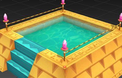 埃及�S金��石水池3D模型