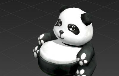 熊猫沙发椅3D模型