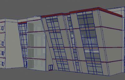 学校图书馆建筑maya模型