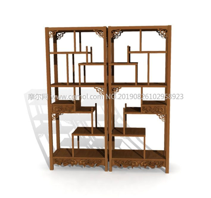中式柜,博古架