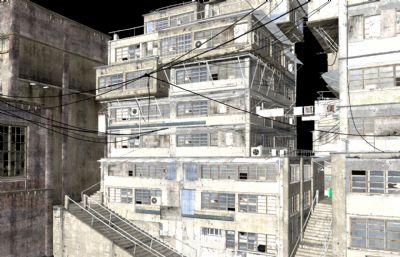 �民窟破�f�欠�鼍�maya模型