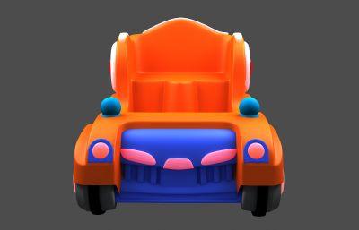 卡通可愛的兒童車,碰碰車模型