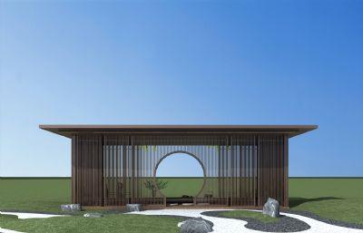 新中式凉亭景观3D模型