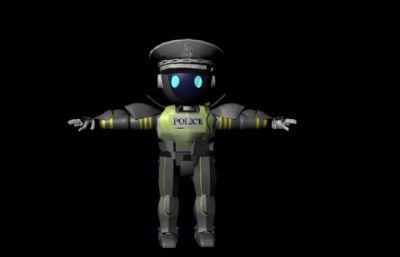 �C器交警Maya模型,�Ы�定