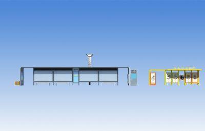 公交站台,校车专用公交站台