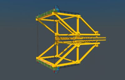 菱形�旎@3D模型,箱梁施工